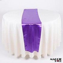10 Satin Table Runners Sashes Cloth [Purple]